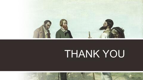 """Gustave Courbet & lt; LA Rencontre Ou \""""Bonjour Monsieur Courbet\""""> - 무료 키노트 템플릿 디자인_06"""
