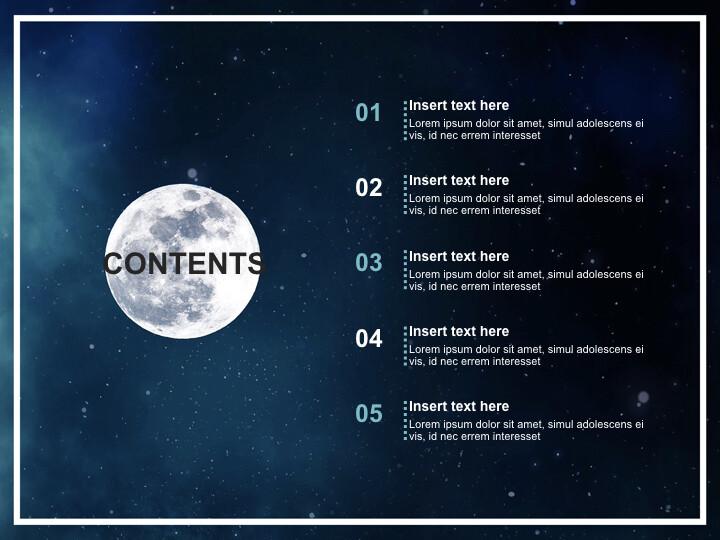 달과 우주 비<span class=\'highlight\'>행사</span> - 무료 키노트 배경_02