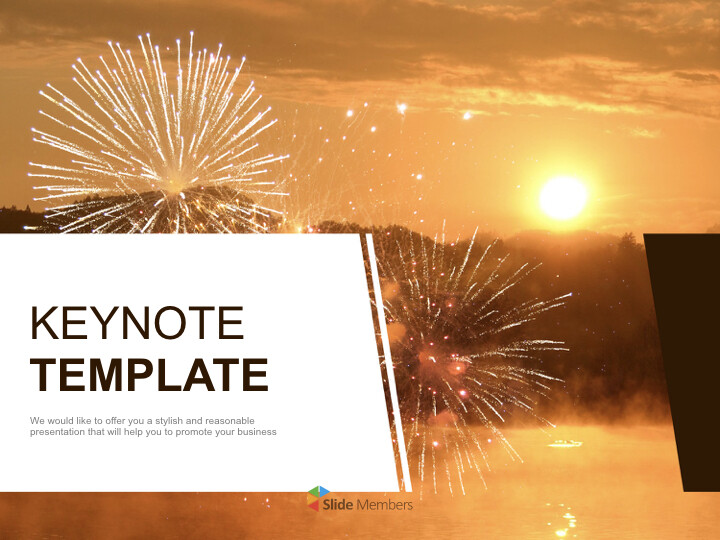 Free Business Keynote Templates - A New-year's <span class=\'highlight\'>Sunrise</span>_01