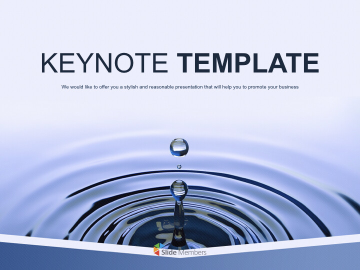 Free Business Keynote Templates - water Drop_01
