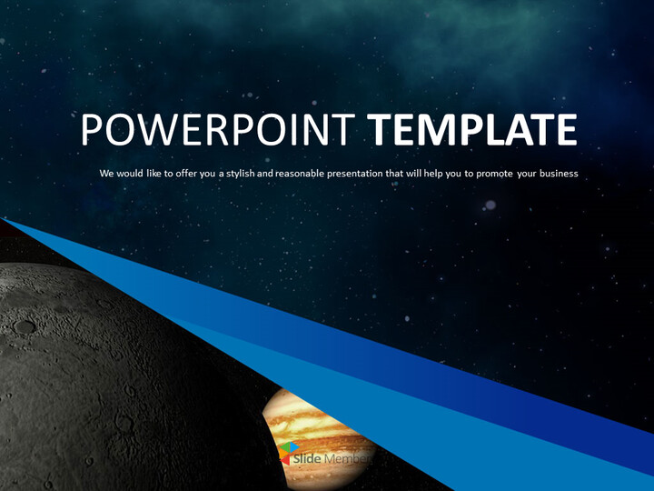 Free PPT Template Design - Mystery of the Universe_01