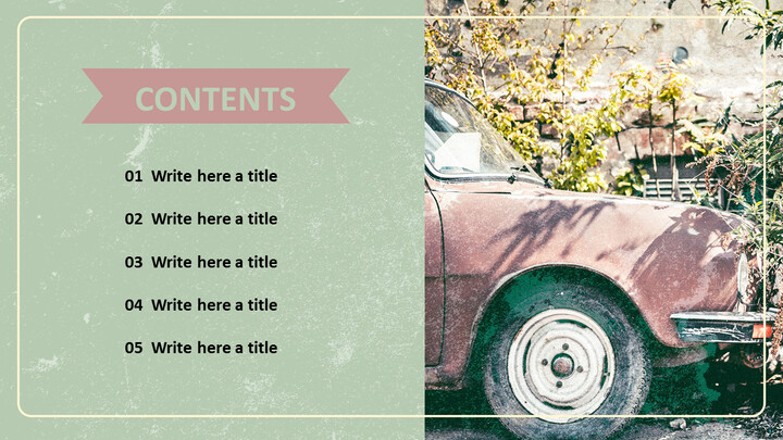 Old Car Powerpoint Template Free Download