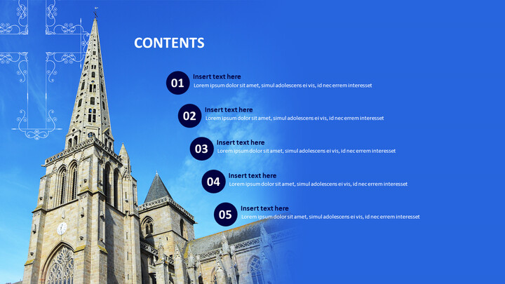 Catholic Church on a Bright Day - Free Powerpoint Template_02