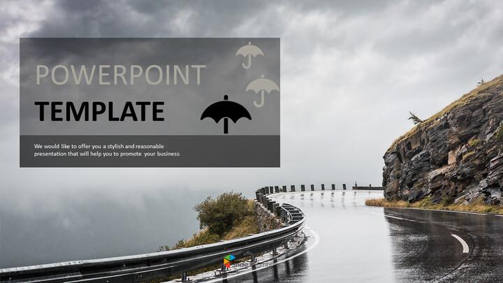 비가 운전 - 무료 파워포인트 디자인_01