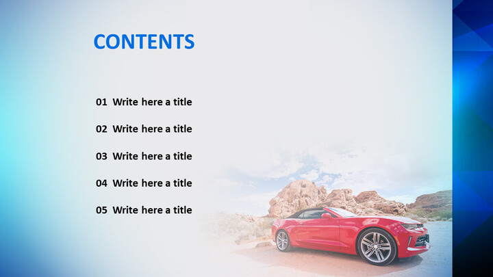 Free PowerPoint Template Design - Red Car_02
