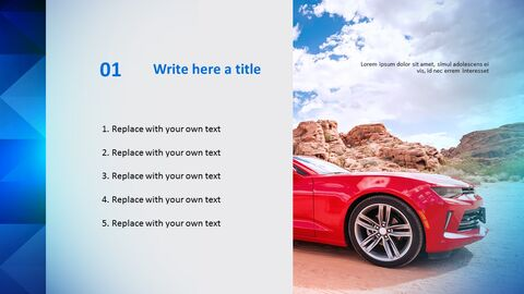 Free PowerPoint Template Design - Red Car_03