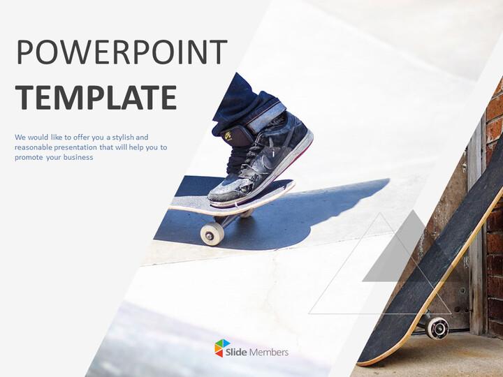 무료 파워포인트 템플릿 다운로드 - 스케이트 보드_01
