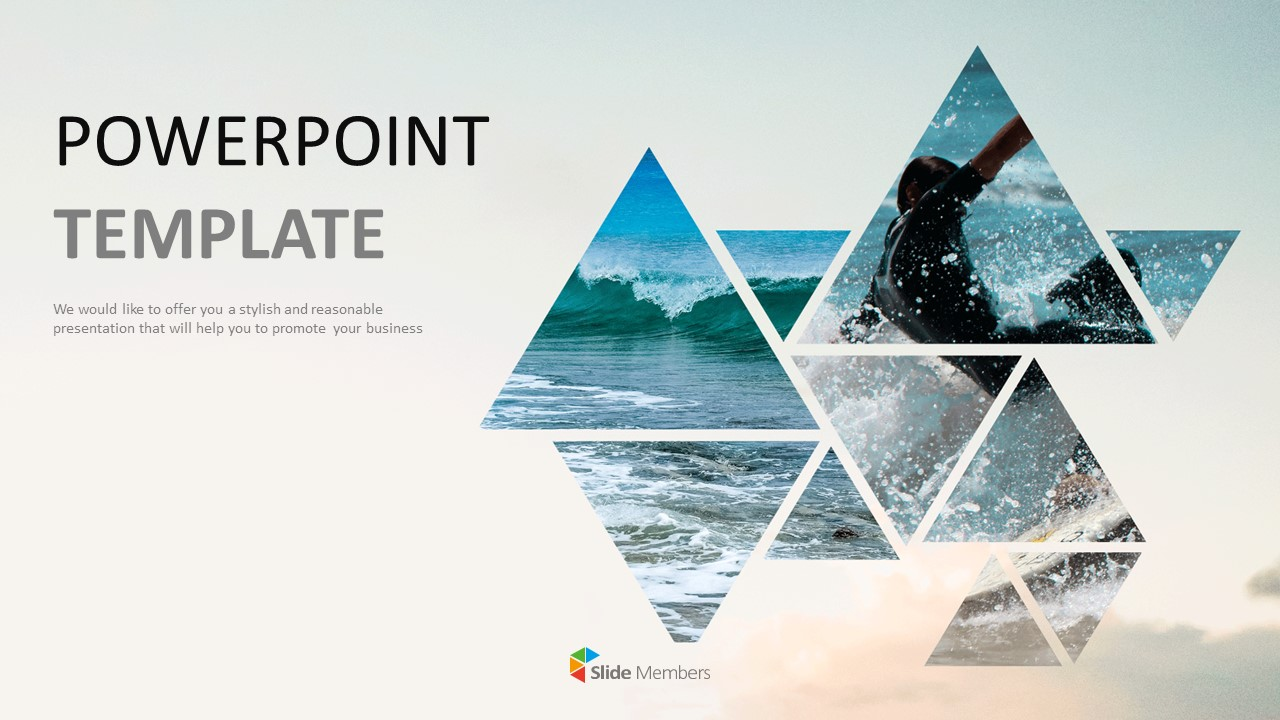 Free Powerpoint Template Download Surfing