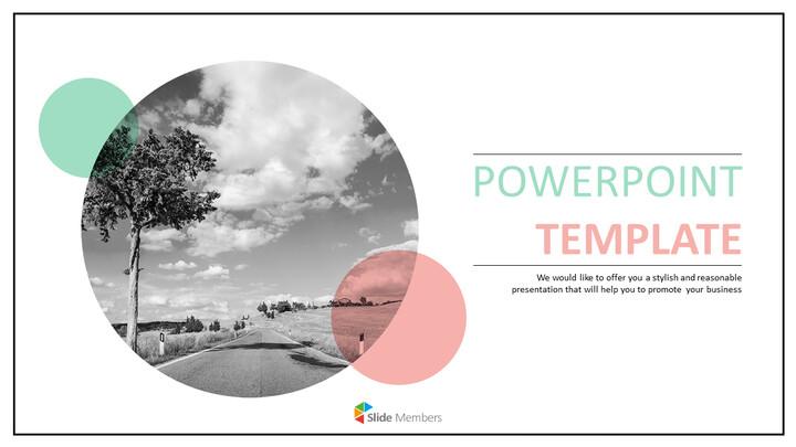 자연의 고속도로 - 무료 PowerPoint 템플릿 디자인_01