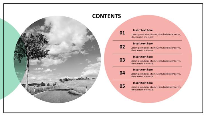 자연의 고속도로 - 무료 PowerPoint 템플릿 디자인_02