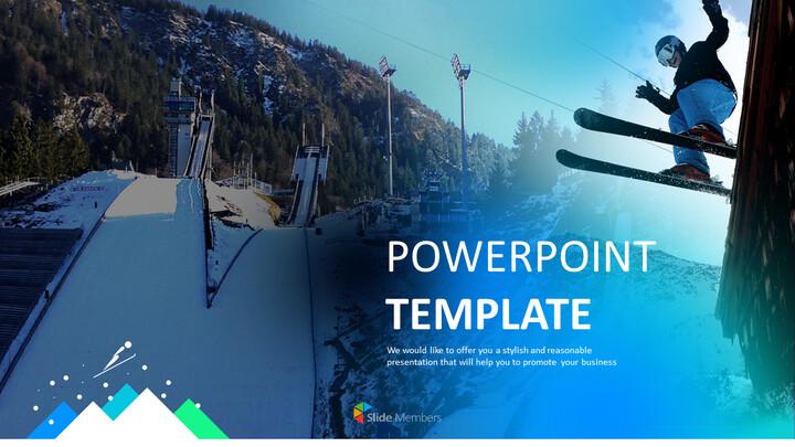 스키 점프 경기장 - Free 프레젠테이션 템플릿_01
