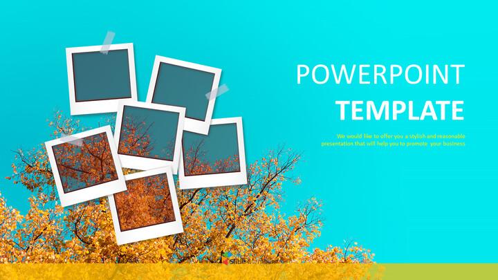 가을 사진 전시회 - 무료 PPT 템플릿_01