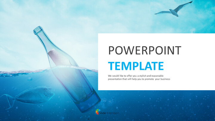 Best PPT Template Free Download - Bottle Floating in Ocean_01