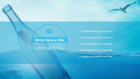 Best PPT Template Free Download - Bottle Floating in Ocean_03