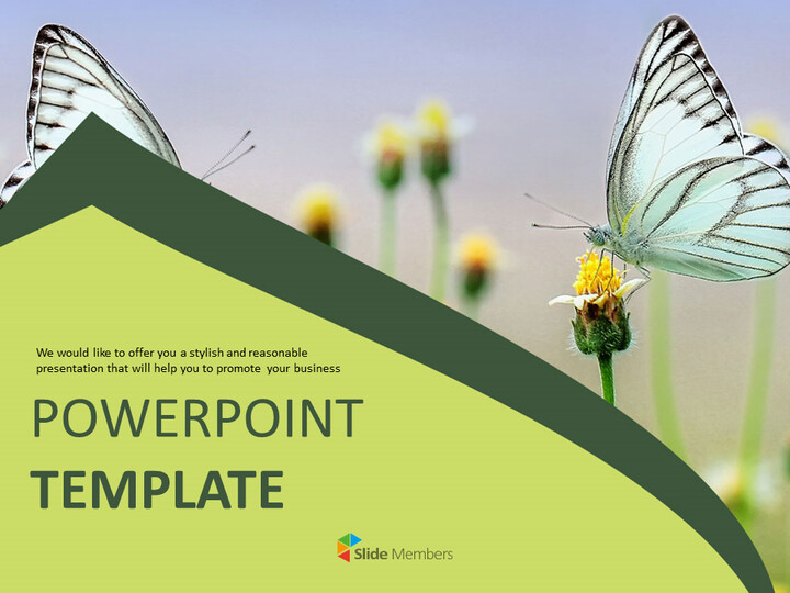 Butterfly Theme - PowerPoint Template Free Download_01