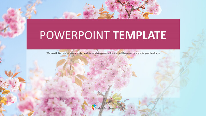 Cherry Blossoms in Spring Days - PPT Free Download_01