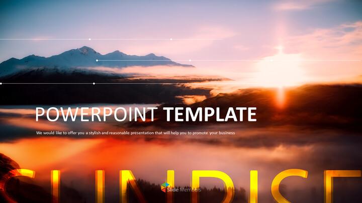 Free Powerpoint Template - <span class=\'highlight\'>Sunrise</span> Theme_01