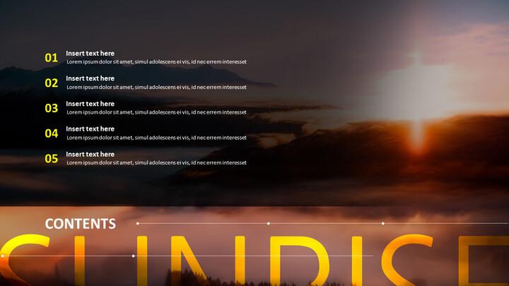 Free Powerpoint Template - <span class=\'highlight\'>Sunrise</span> Theme_02