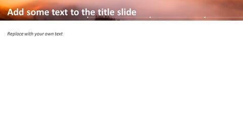 Free Powerpoint Template - <span class=\'highlight\'>Sunrise</span> Theme_05