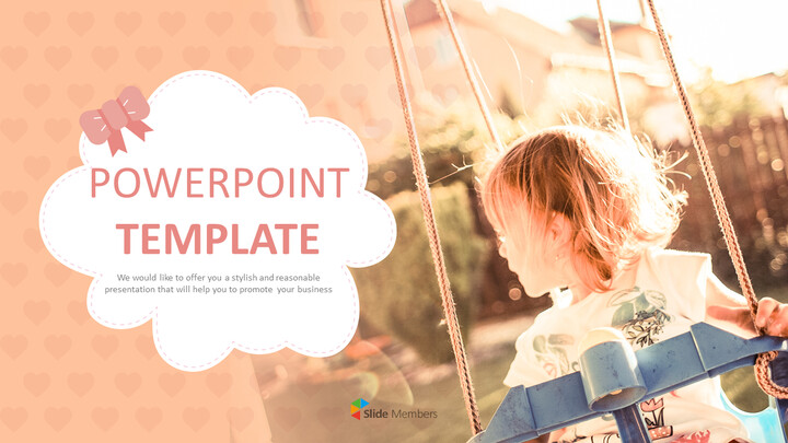 Free PowerPoint Template Design - A Playground on a warm afternoon_01