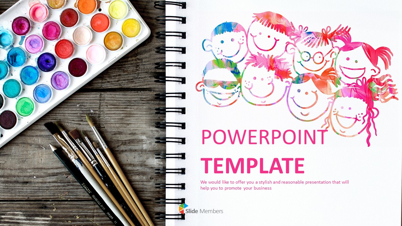 Free Ppt Template Design Kids Art