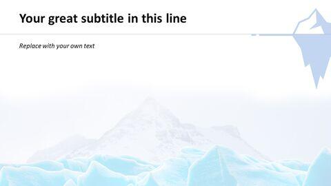 빙하 - 파워포인트 템플릿 무료 다운로드_05