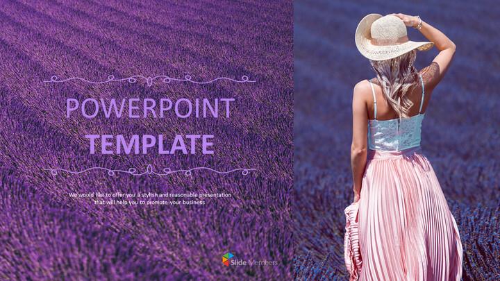 라벤더 밭 - 무료 디자인 템플릿_01