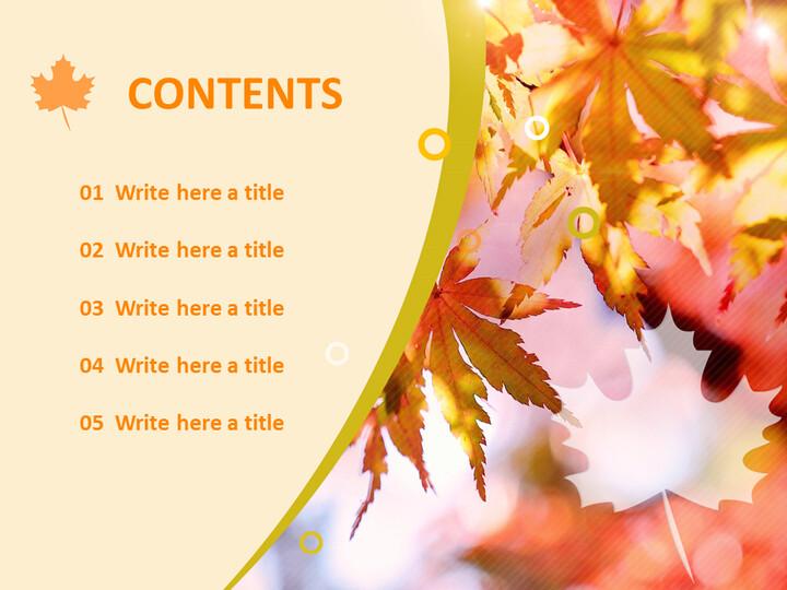 단풍 나무 - 무료 비즈니스 파워포인트 템플릿_02