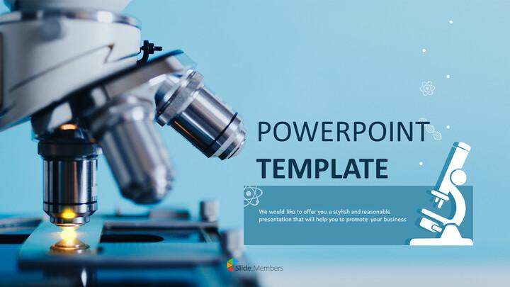 현미경 - 무료 PowerPoint 템플릿 디자인_01