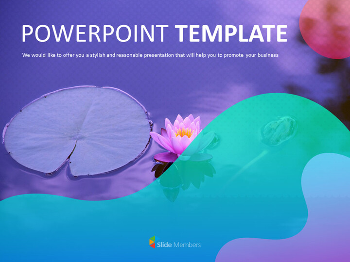 PowerPoint Free - Lotus flower in the lake_01