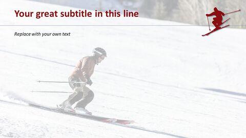 무료 파워포인트 - 스키_04