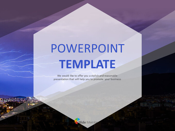 PowerPoint Template Free - Thunder and Lightning_01