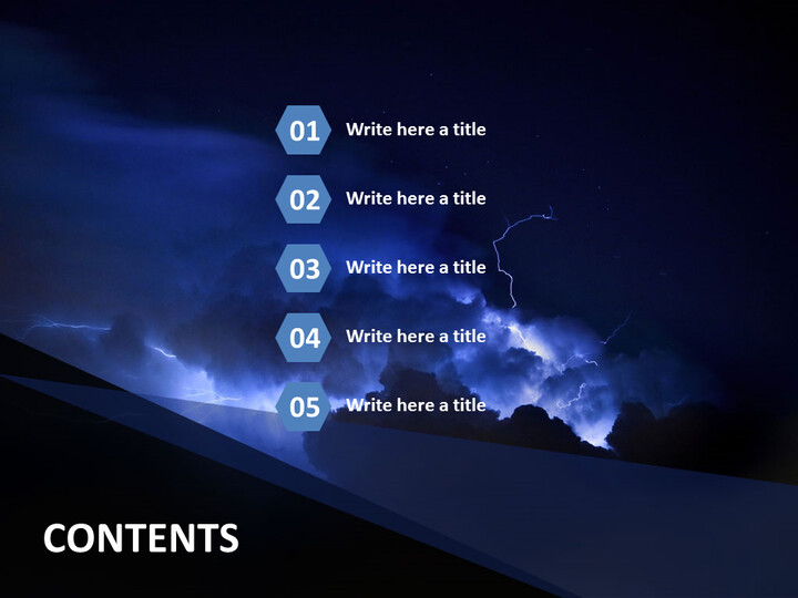 PowerPoint Template Free - Thunder and Lightning_02