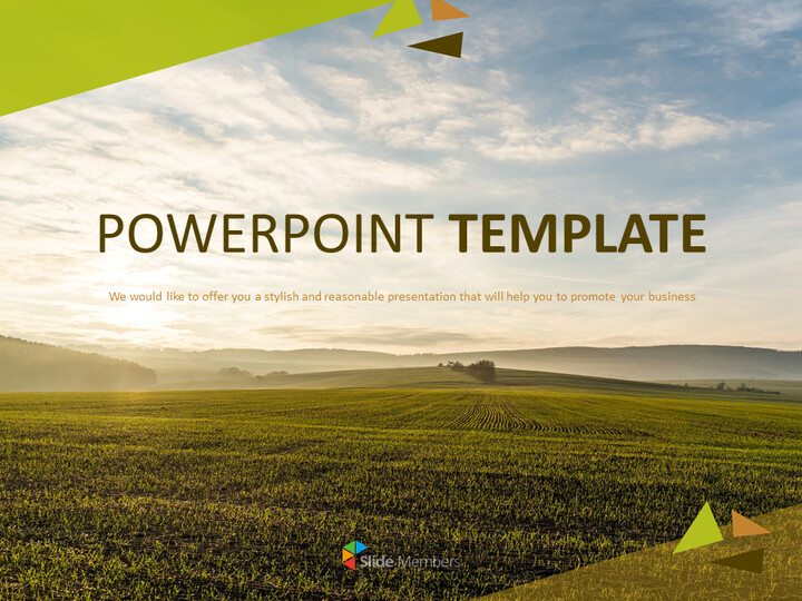 PowerPoint Templates Free Download - Sunset Field_01