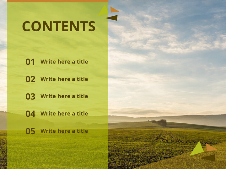 PowerPoint Templates Free Download - Sunset Field_02