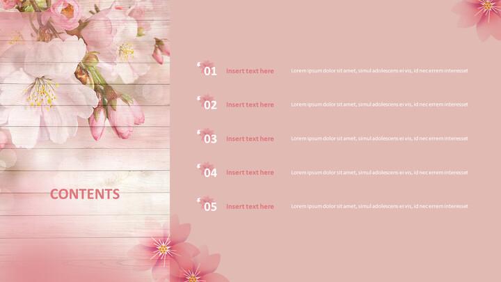 PPT 디자인 무료 - 벚꽃_02