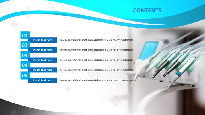 PPT 템플릿 무료 다운로드 - 치과 의료 도구_02