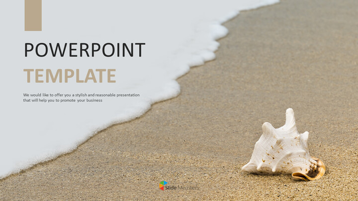 Seashell on the Beach - Free Powerpoint Template_01