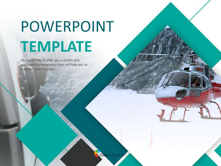 스노우 마운틴 구조 헬리콥터 - 파워포인트 템플릿 무료_01