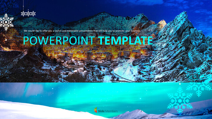 Snowy Town - Free PPT Design_01