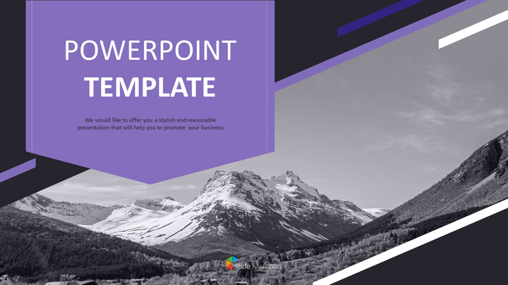 The Alps in Black and White - Free Presentation Templates_01