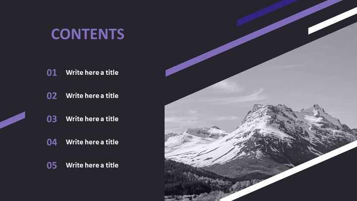 The Alps in Black and White - Free Presentation Templates_02