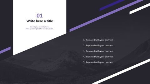The Alps in Black and White - Free Presentation Templates_03