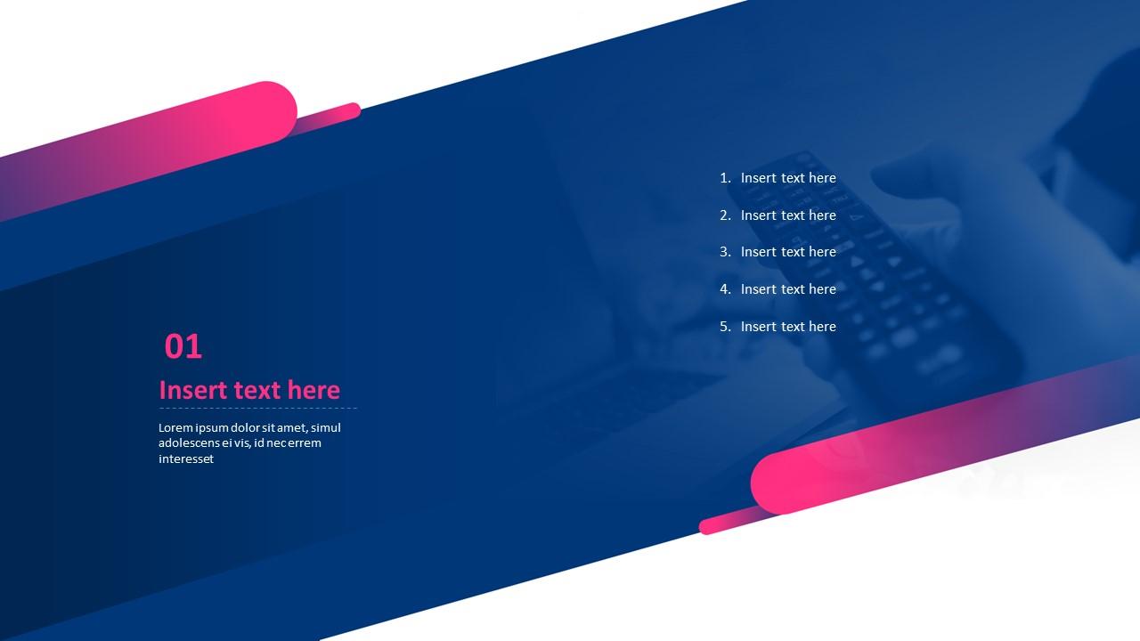 Tv Remote Control Free Ppt Template Design