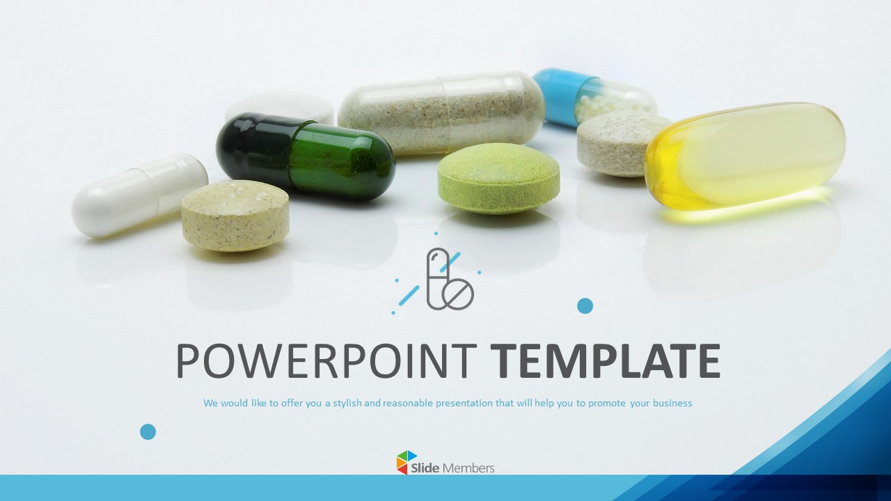 Various Pills Powerpoint Template Free Download