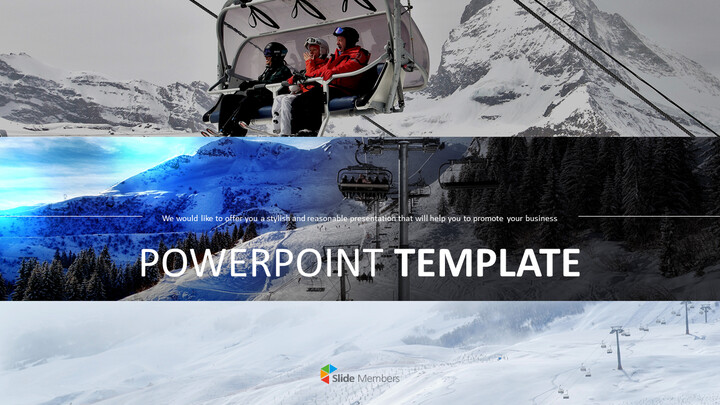 겨울 레저 스포츠 - 무료 비즈니스 파워포인트 템플릿_01
