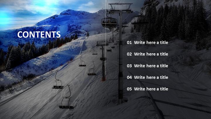 겨울 레저 스포츠 - 무료 비즈니스 파워포인트 템플릿_02
