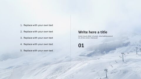 겨울 레저 스포츠 - 무료 비즈니스 파워포인트 템플릿_03