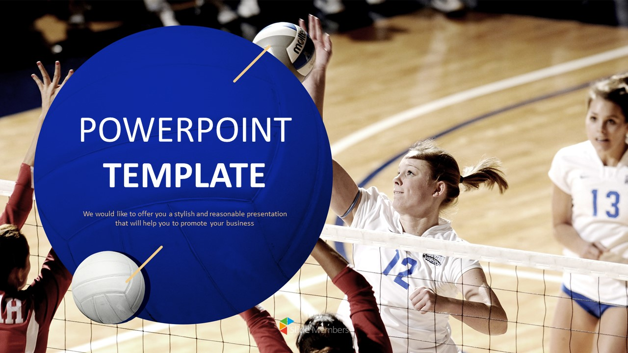 Woman Volleyball Ppt Design Free