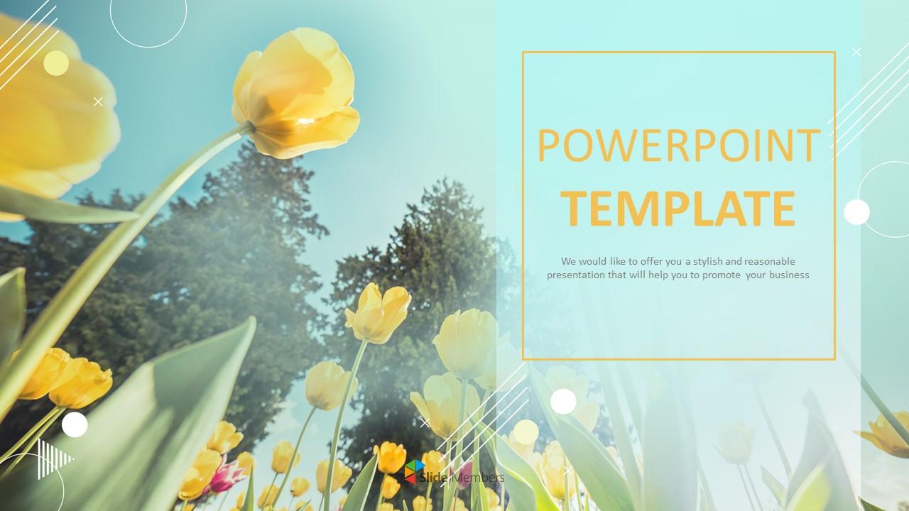 Yellow Tulip Powerpoint Presentation Download Free
